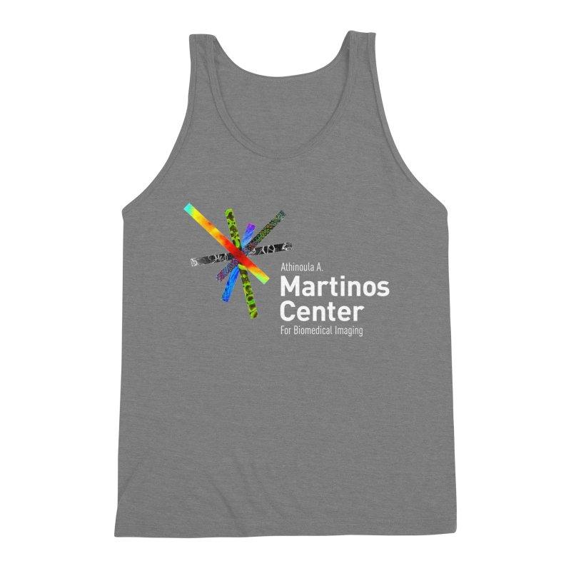 Martinos Center Logo (White Text) Men's Triblend Tank by martinos's Artist Shop