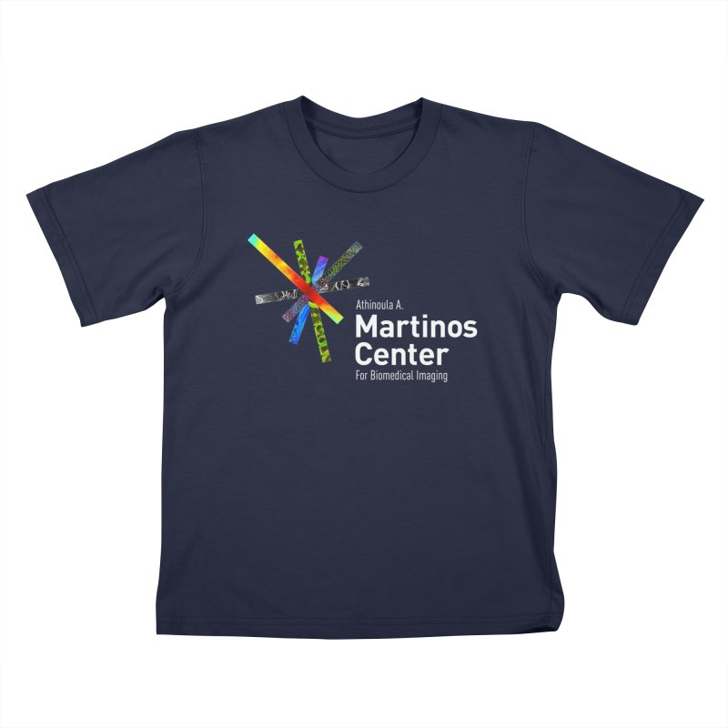 Martinos Center Logo (White Text) Kids T-Shirt by martinos's Artist Shop