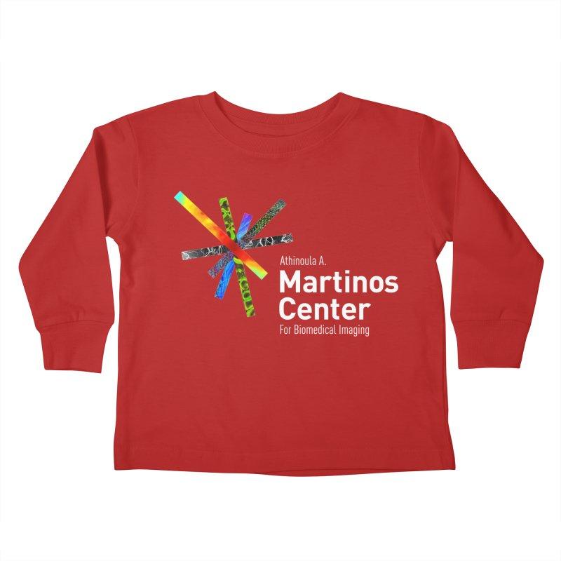Martinos Center Logo (White Text) Kids Toddler Longsleeve T-Shirt by martinos's Artist Shop