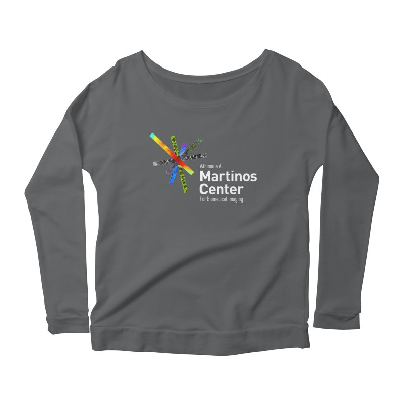 Martinos Center Logo (White Text) Women's Scoop Neck Longsleeve T-Shirt by martinos's Artist Shop