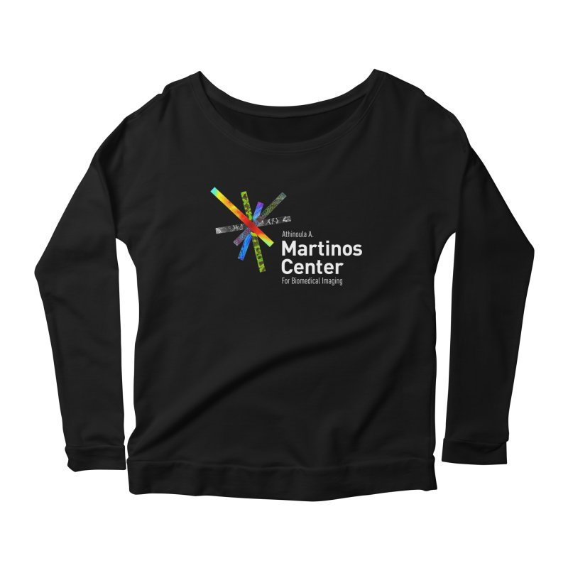 Martinos Center Logo (White Text) Women's Longsleeve Scoopneck  by martinos's Artist Shop