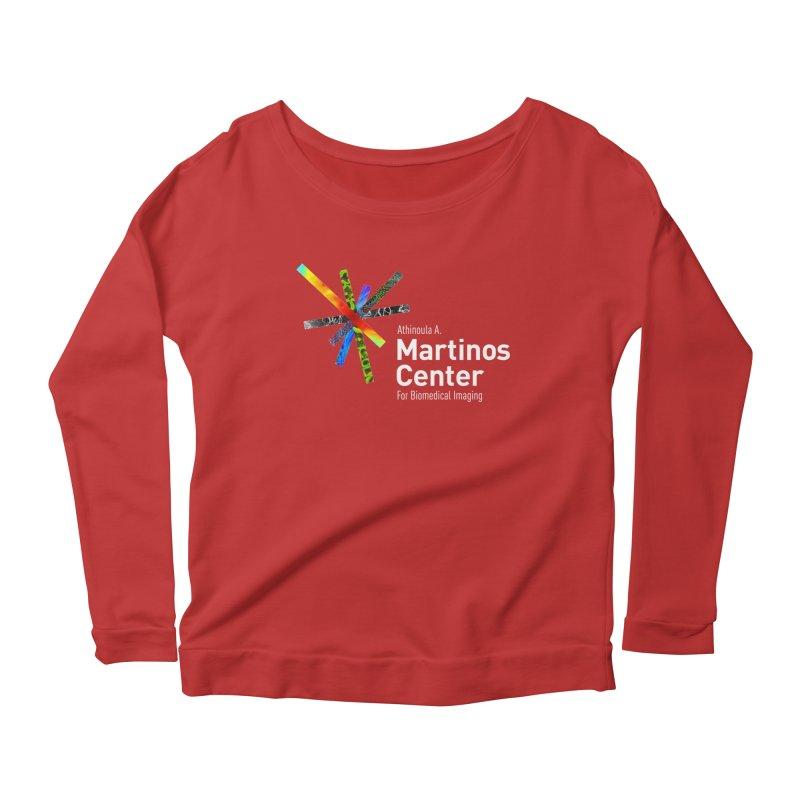 Martinos Center Logo (White Text) Women's Scoop Neck Longsleeve T-Shirt by martinos's Artist Shop