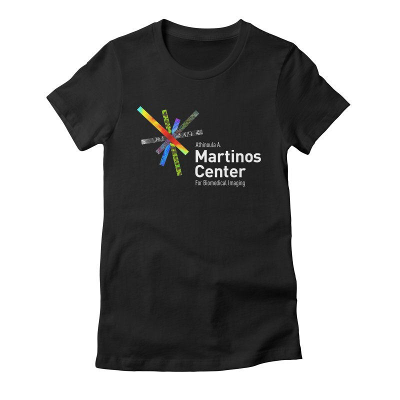 Martinos Center Logo (White Text) Women's Fitted T-Shirt by martinos's Artist Shop