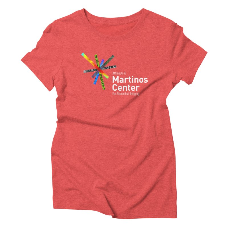 Martinos Center Logo (White Text) Women's Triblend T-Shirt by martinos's Artist Shop