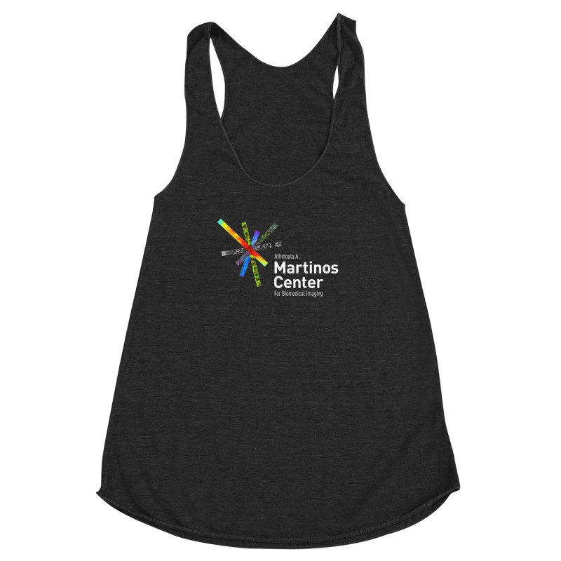 Martinos Center Logo (White Text) Women's Racerback Triblend Tank by martinos's Artist Shop