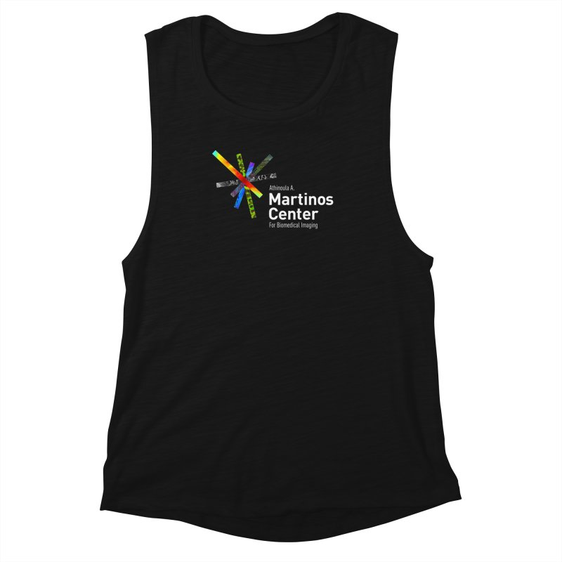 Martinos Center Logo (White Text) Women's Muscle Tank by martinos's Artist Shop