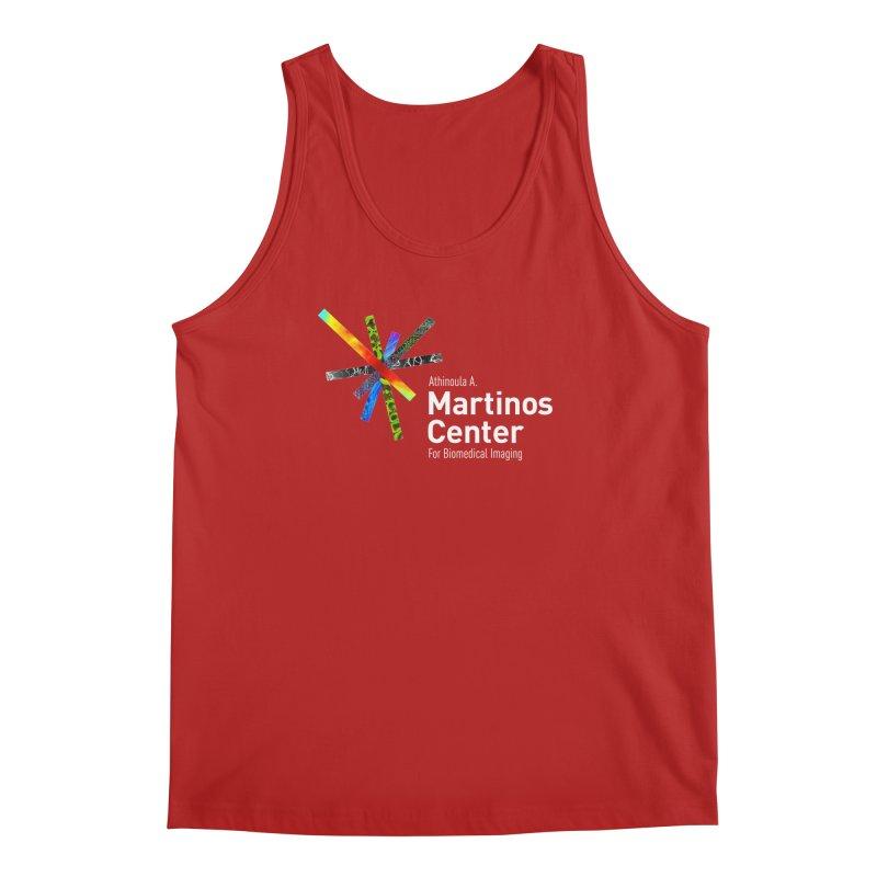 Martinos Center Logo (White Text) Men's Tank by martinos's Artist Shop