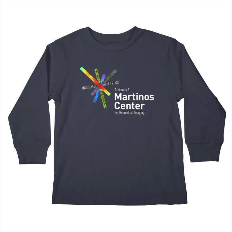 Martinos Center Logo (White Text) Kids Longsleeve T-Shirt by martinos's Artist Shop