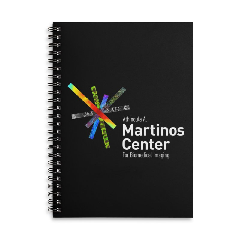 Martinos Center Logo (White Text) Accessories Lined Spiral Notebook by martinos's Artist Shop
