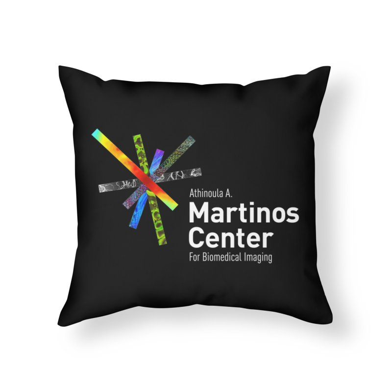 Martinos Center Logo (White Text) Home Throw Pillow by martinos's Artist Shop
