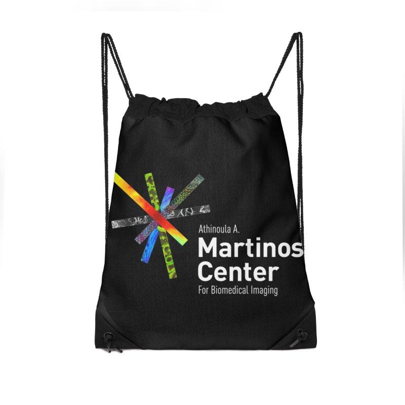 Martinos Center Logo (White Text) Accessories Bag by martinos's Artist Shop