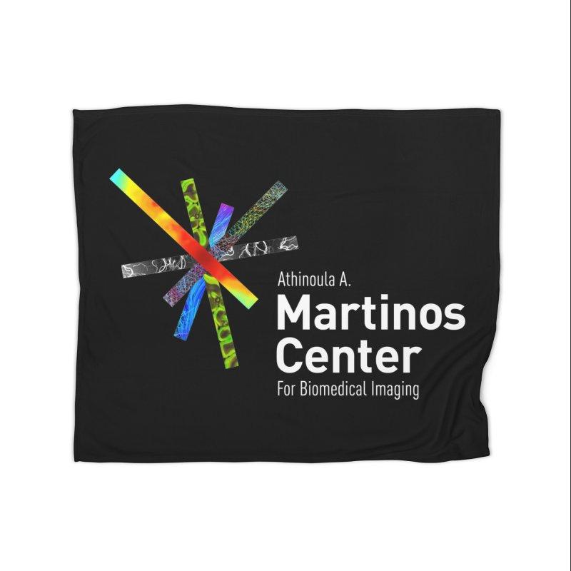 Martinos Center Logo (White Text) Home Fleece Blanket Blanket by martinos's Artist Shop
