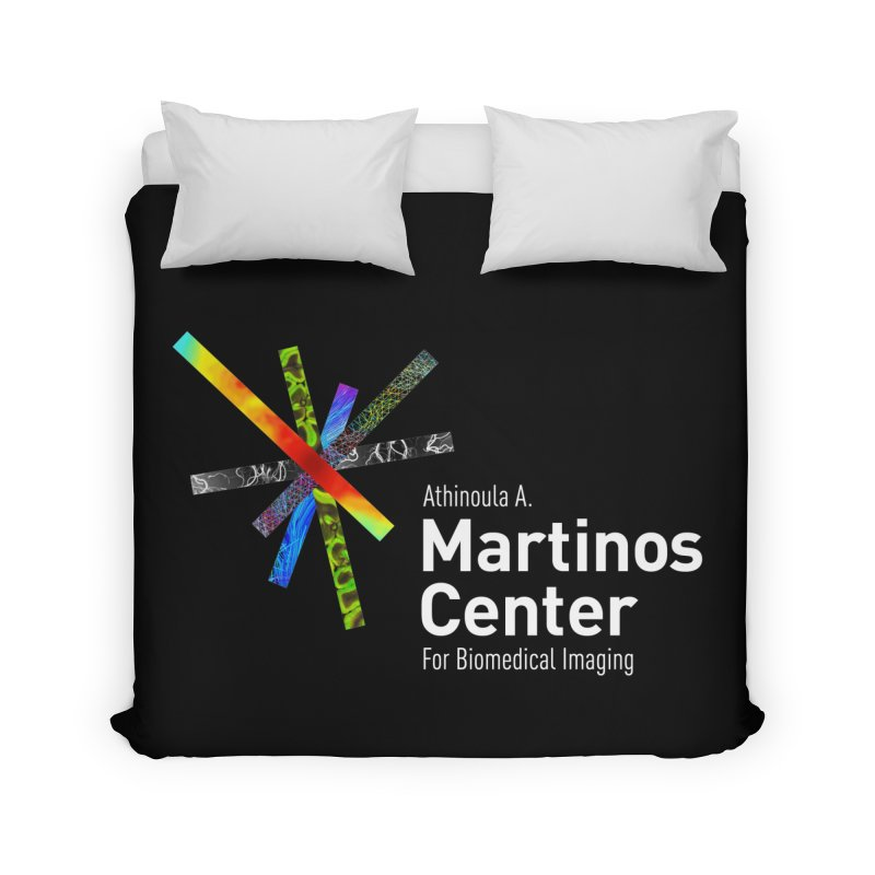 Martinos Center Logo (White Text) Home Duvet by martinos's Artist Shop