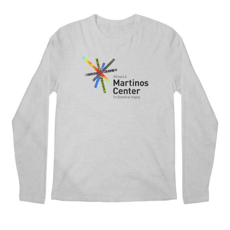 Martinos Center Logo (Black Text) Men's Regular Longsleeve T-Shirt by martinos's Artist Shop