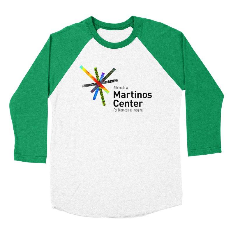Martinos Center Logo (Black Text) Women's Baseball Triblend Longsleeve T-Shirt by martinos's Artist Shop
