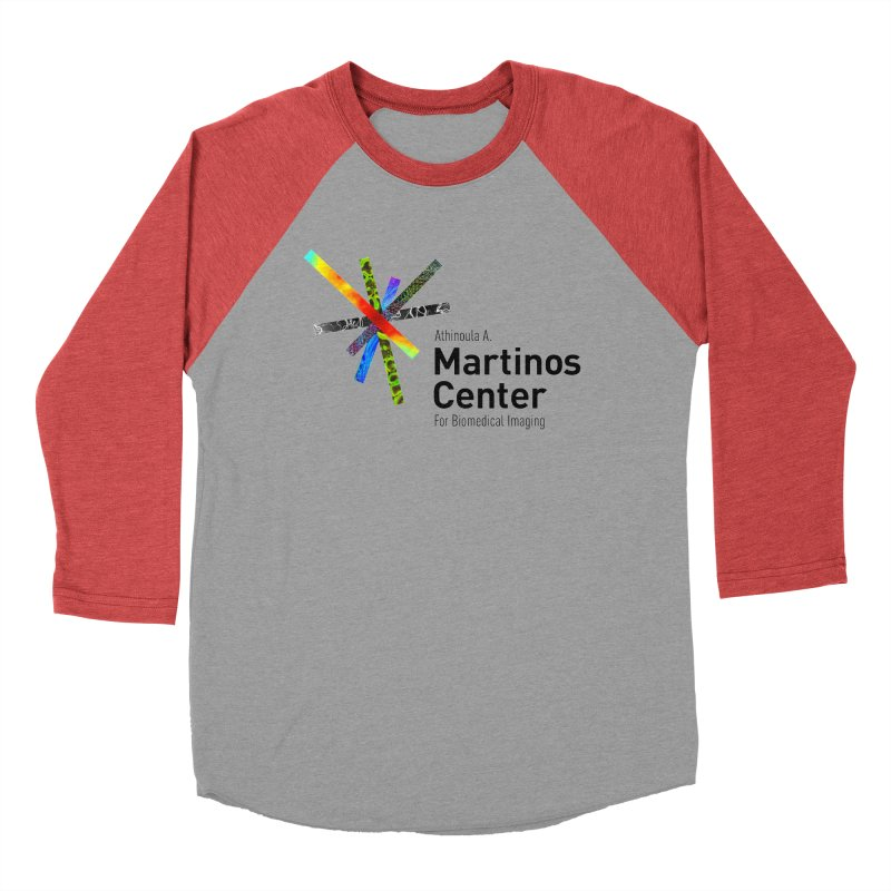 Martinos Center Logo (Black Text) Men's Baseball Triblend T-Shirt by martinos's Artist Shop