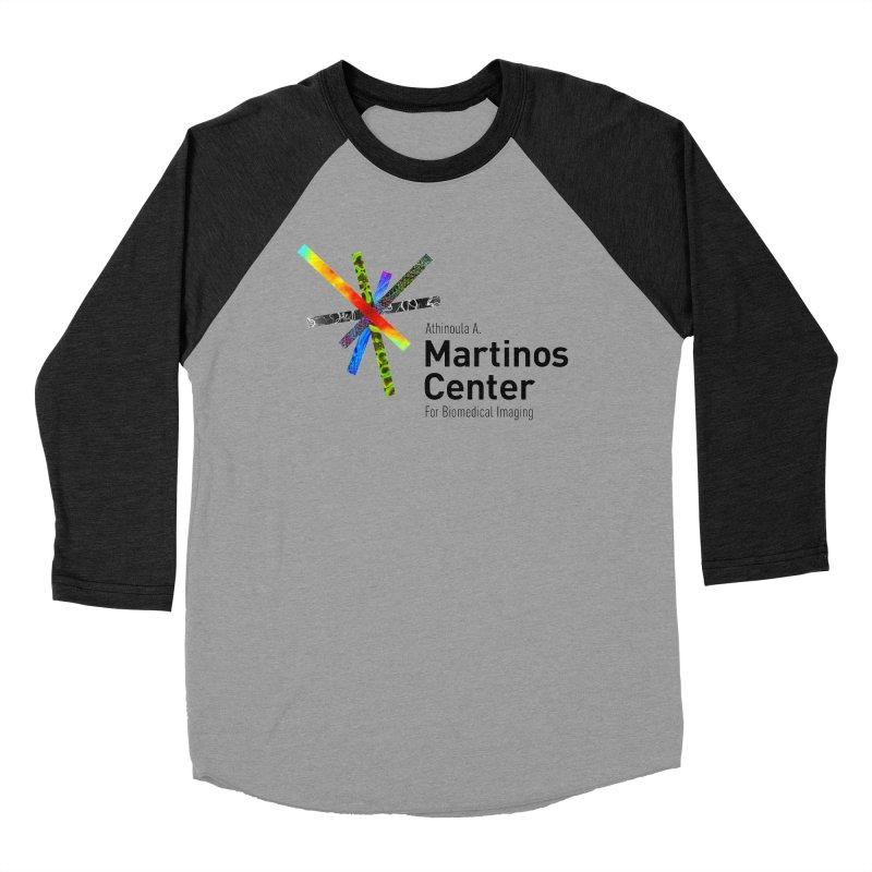 Martinos Center Logo (Black Text) Men's Baseball Triblend T-Shirt by martinos's Artist Shop