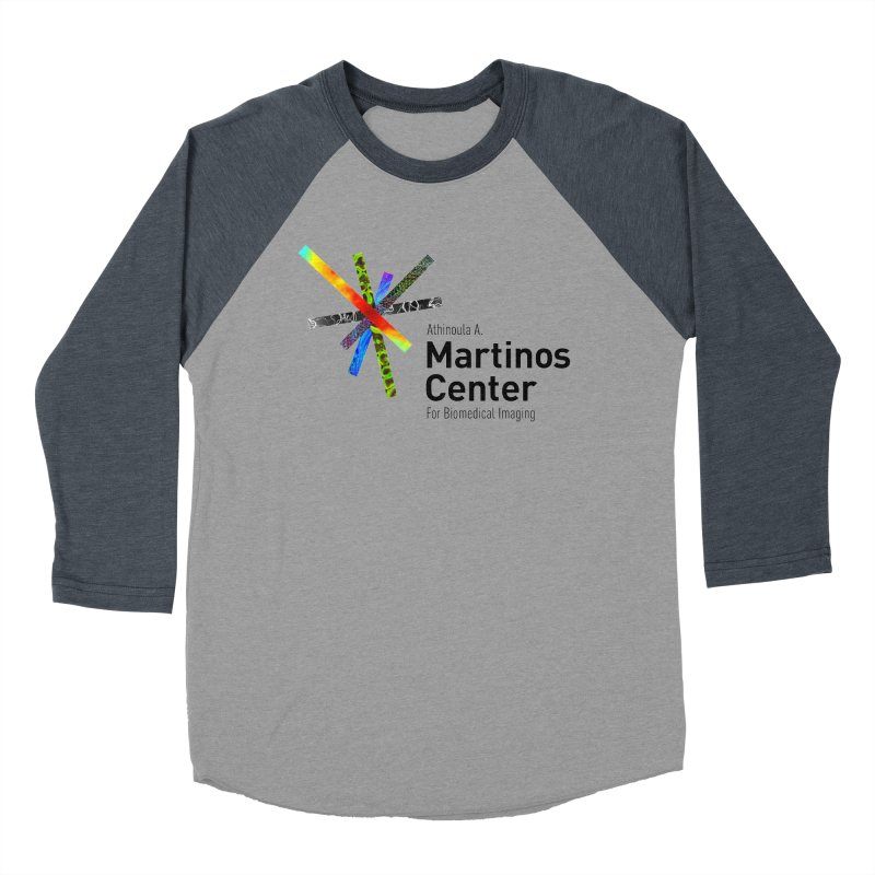 Martinos Center Logo (Black Text) Men's Baseball Triblend Longsleeve T-Shirt by martinos's Artist Shop