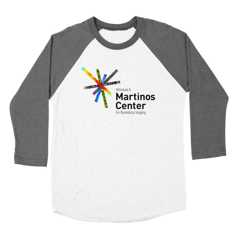 Martinos Center Logo (Black Text) Men's Baseball Triblend Longsleeve T-Shirt by martinos's Artist Shop