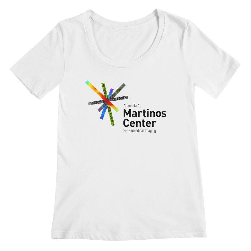Martinos Center Logo (Black Text) Women's Regular Scoop Neck by martinos's Artist Shop