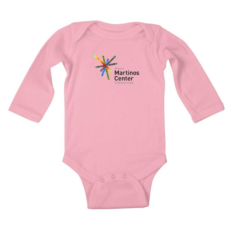 Martinos Center Logo (Black Text) Kids Baby Longsleeve Bodysuit by martinos's Artist Shop