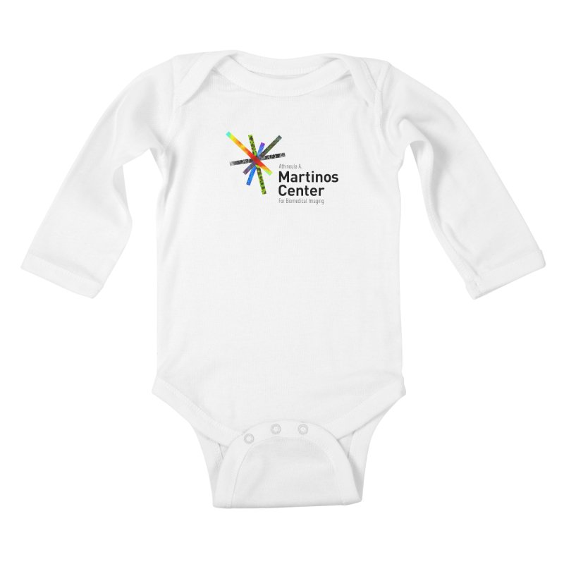 Martinos Center Logo (Black Text) Kids Baby Longsleeve Bodysuit by martinos's Artist Shop
