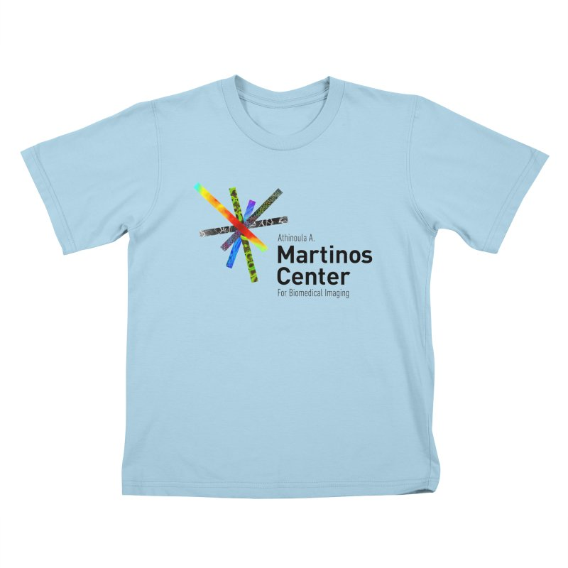 Martinos Center Logo (Black Text) Kids T-Shirt by martinos's Artist Shop