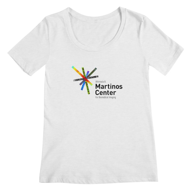 Martinos Center Logo (Black Text) Women's Scoopneck by martinos's Artist Shop