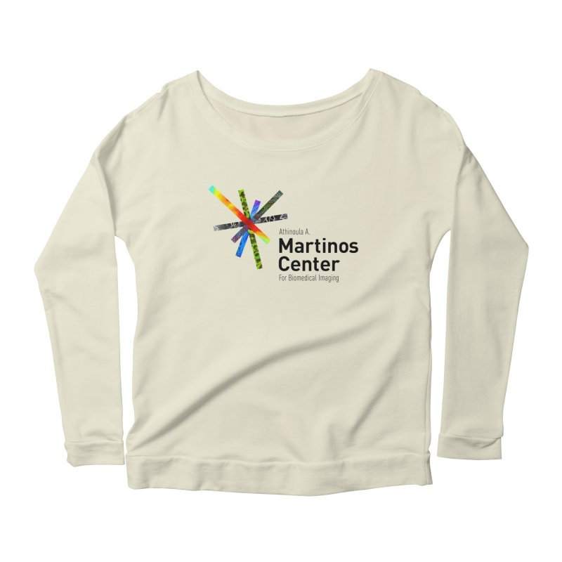 Martinos Center Logo (Black Text) Women's Longsleeve Scoopneck  by martinos's Artist Shop