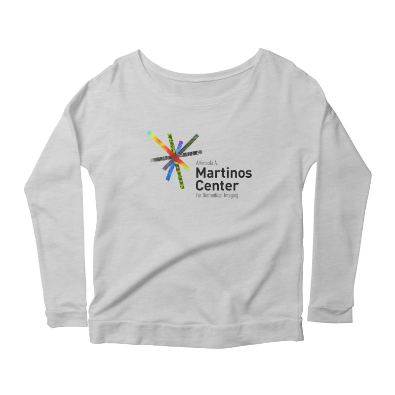 Martinos Center Logo (Black Text) Women's Scoop Neck Longsleeve T-Shirt by martinos's Artist Shop
