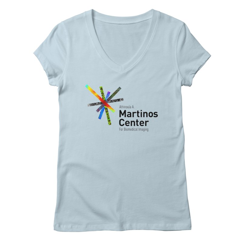 Martinos Center Logo (Black Text) Women's V-Neck by martinos's Artist Shop