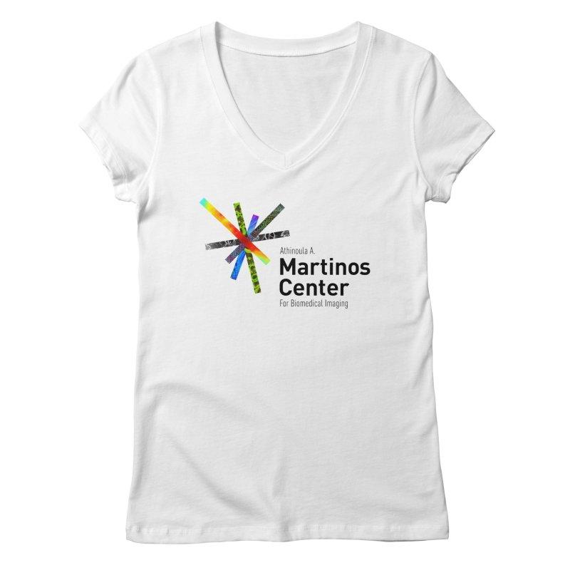 Martinos Center Logo (Black Text) Women's Regular V-Neck by martinos's Artist Shop