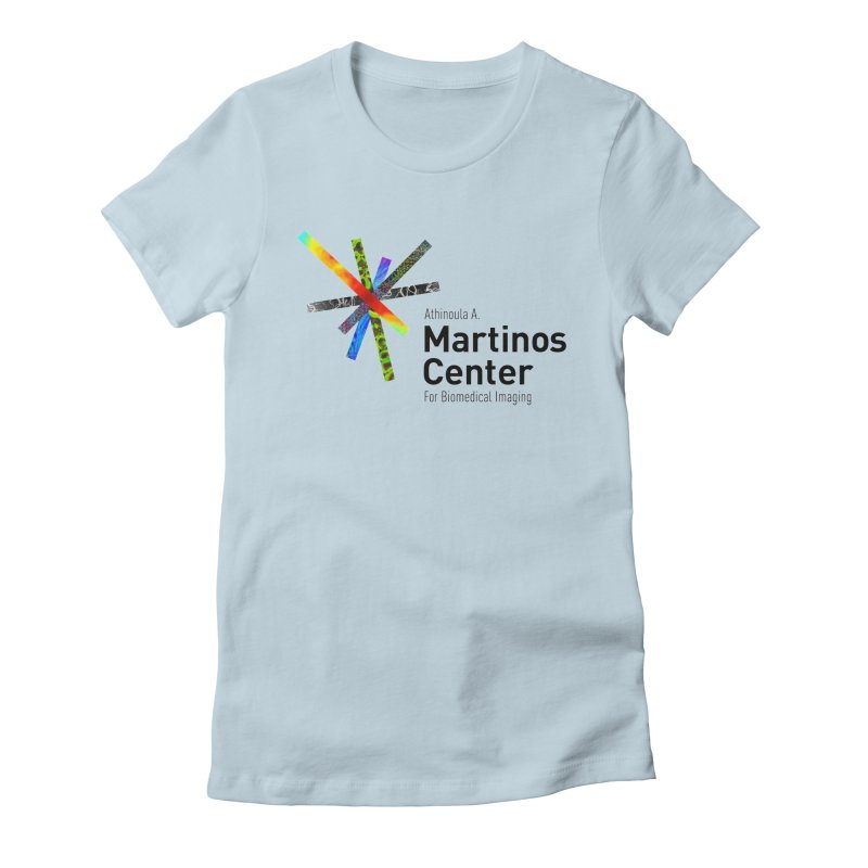 Martinos Center Logo (Black Text) Women's Fitted T-Shirt by martinos's Artist Shop
