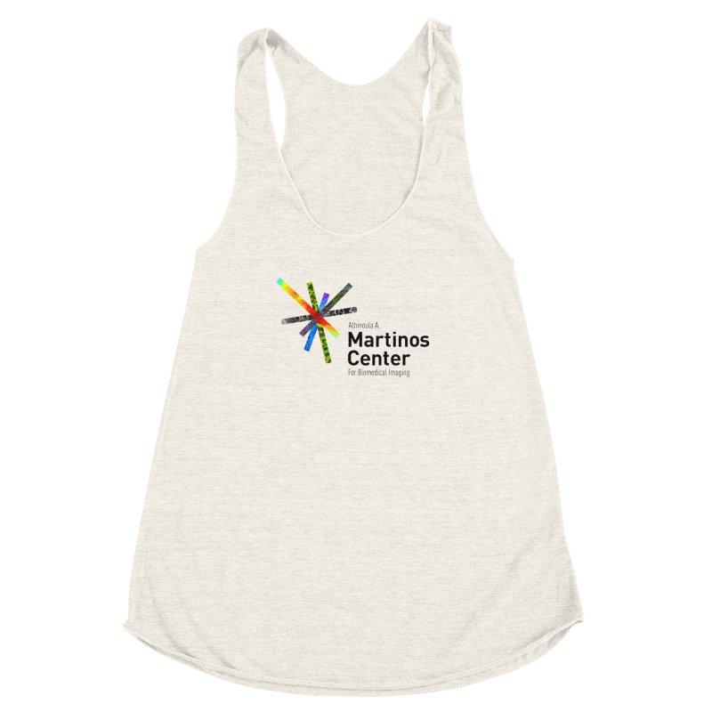 Martinos Center Logo (Black Text) Women's Racerback Triblend Tank by martinos's Artist Shop