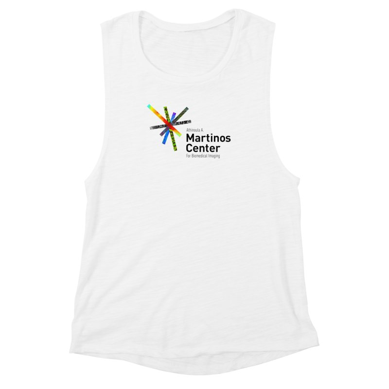 Martinos Center Logo (Black Text) Women's Muscle Tank by martinos's Artist Shop