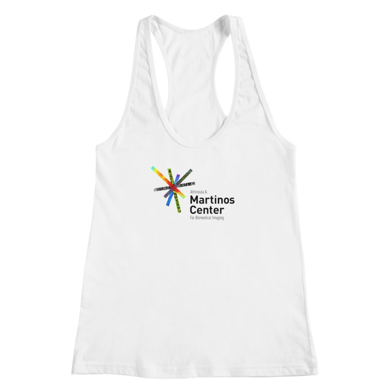 Martinos Center Logo (Black Text) Women's Racerback Tank by martinos's Artist Shop