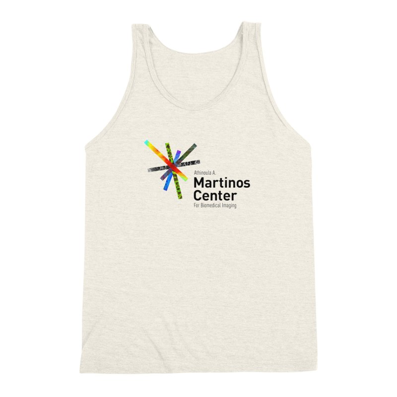 Martinos Center Logo (Black Text) Men's Triblend Tank by martinos's Artist Shop