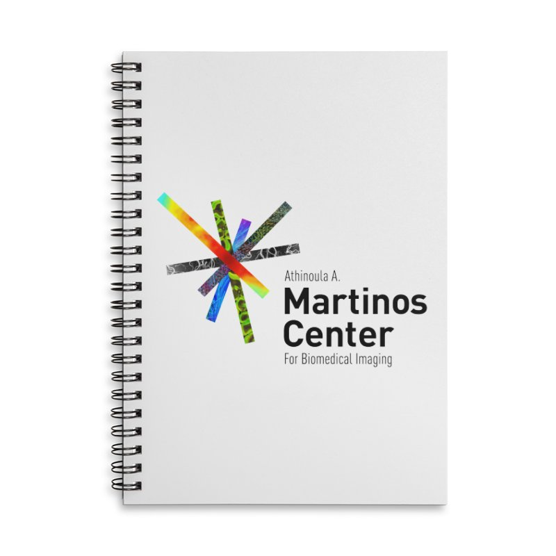 Martinos Center Logo (Black Text) Accessories Lined Spiral Notebook by martinos's Artist Shop