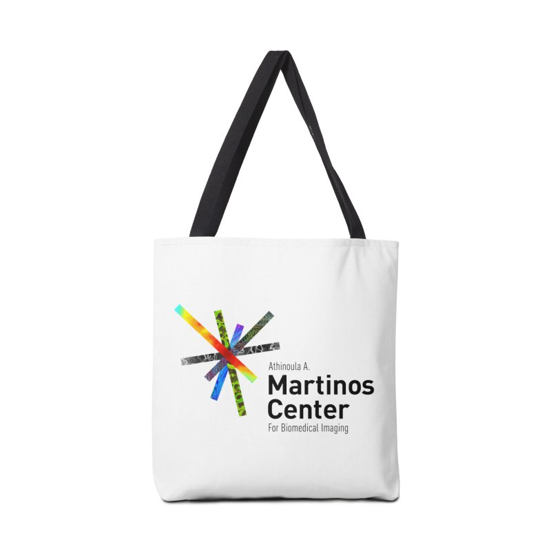 Martinos Center Logo (Black Text) Accessories Tote Bag Bag by martinos's Artist Shop