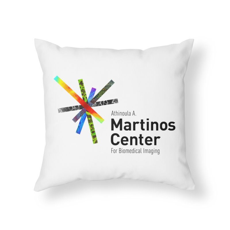 Martinos Center Logo (Black Text) Home Throw Pillow by martinos's Artist Shop