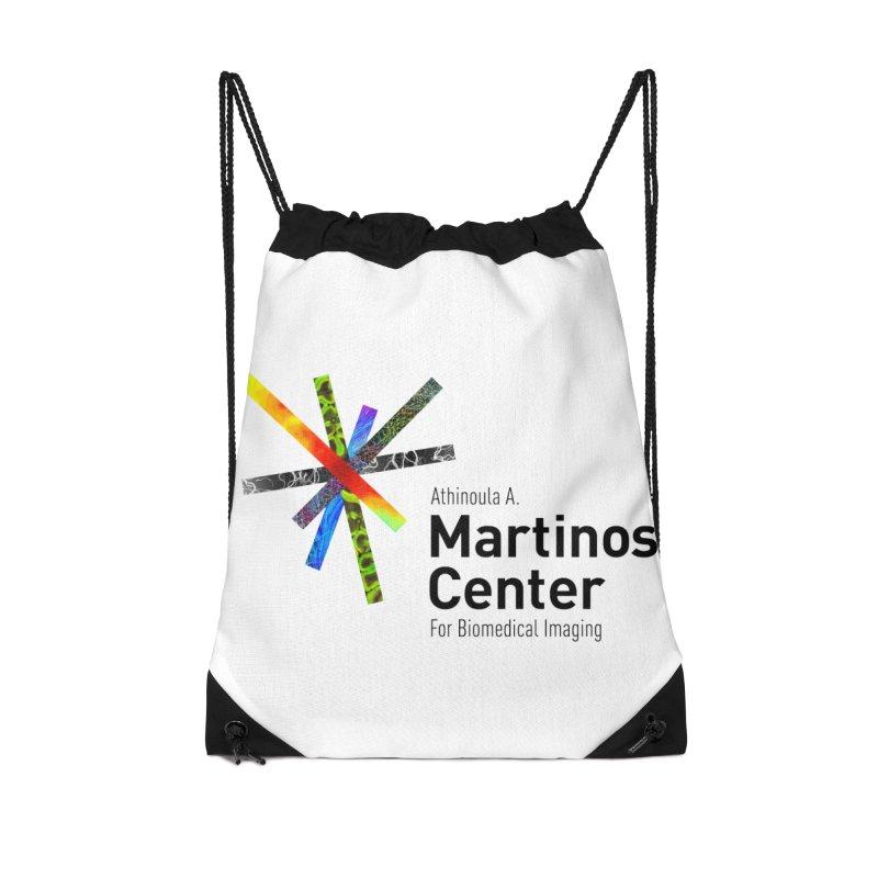 Martinos Center Logo (Black Text) Accessories Drawstring Bag Bag by martinos's Artist Shop