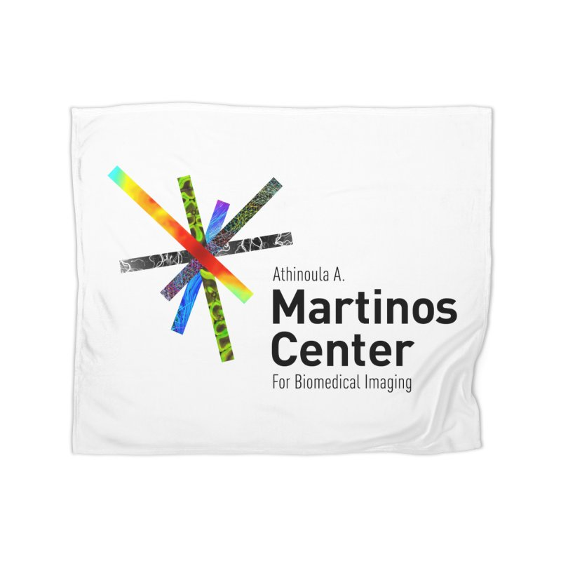 Martinos Center Logo (Black Text) Home Fleece Blanket Blanket by martinos's Artist Shop