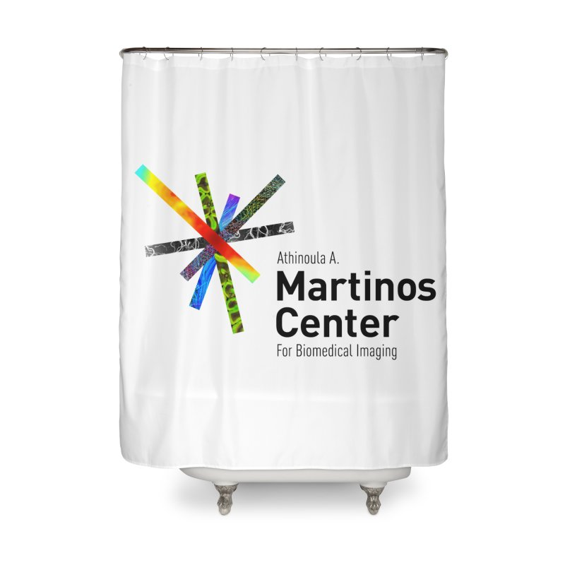 Martinos Center Logo (Black Text) Home Shower Curtain by martinos's Artist Shop
