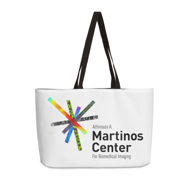 Martinos Center Logo (Black Text) Accessories Weekender Bag Bag by martinos's Artist Shop