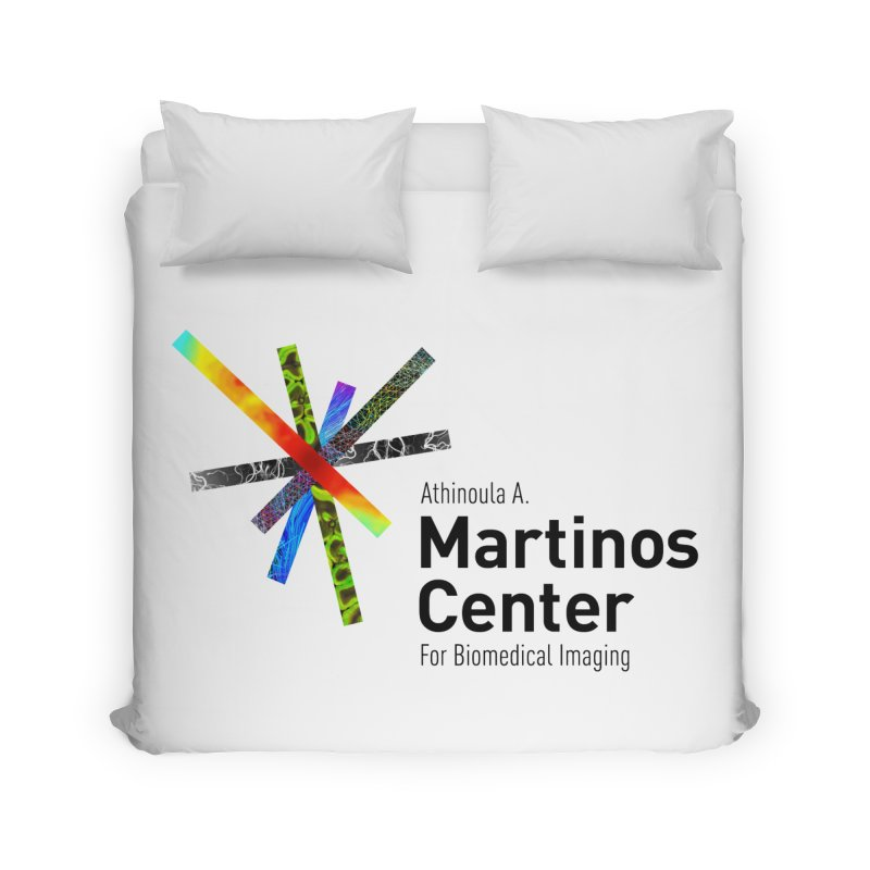 Martinos Center Logo (Black Text) Home Duvet by martinos's Artist Shop