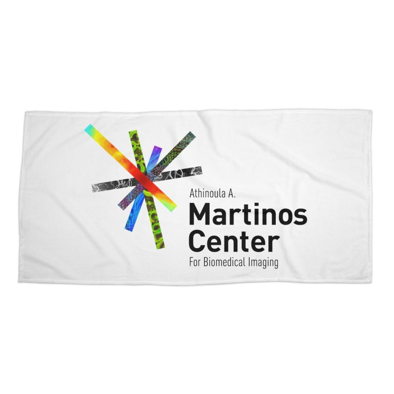 Martinos Center Logo (Black Text) Accessories Beach Towel by martinos's Artist Shop