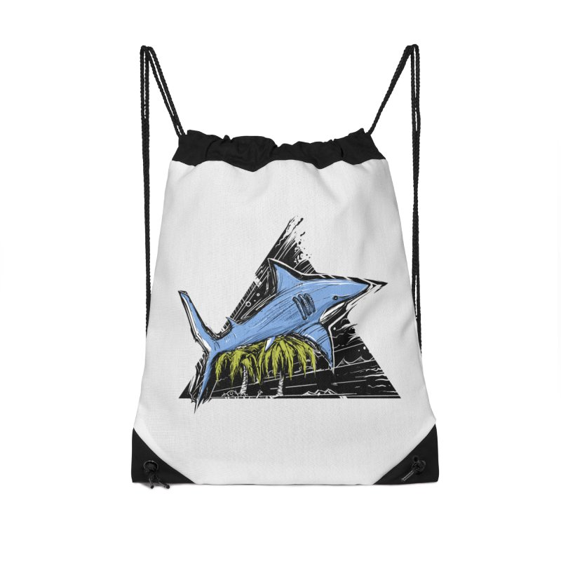 somewhere over the palm trees Accessories Drawstring Bag Bag by martinskowsky