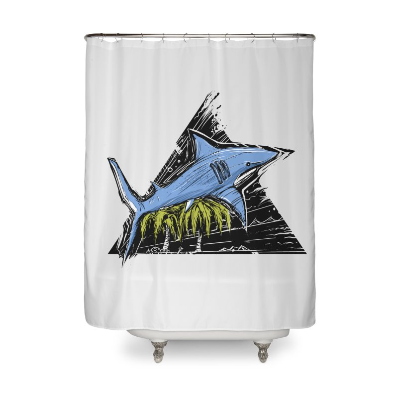 somewhere over the palm trees Home Shower Curtain by martinskowsky