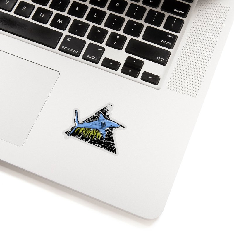 somewhere over the palm trees Accessories Sticker by martinskowsky