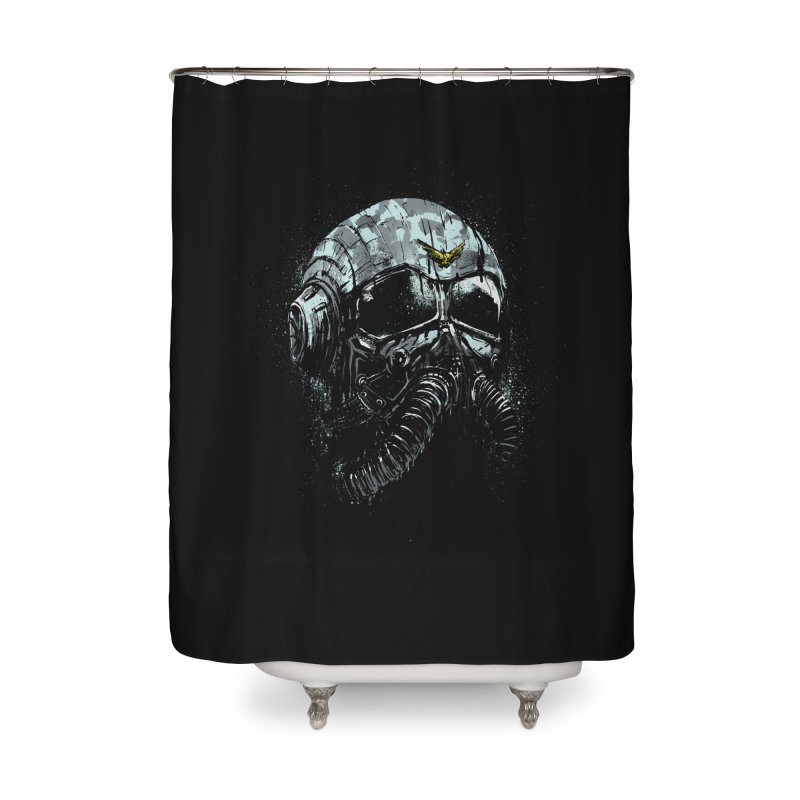 stratofighter Home Shower Curtain by martinskowsky